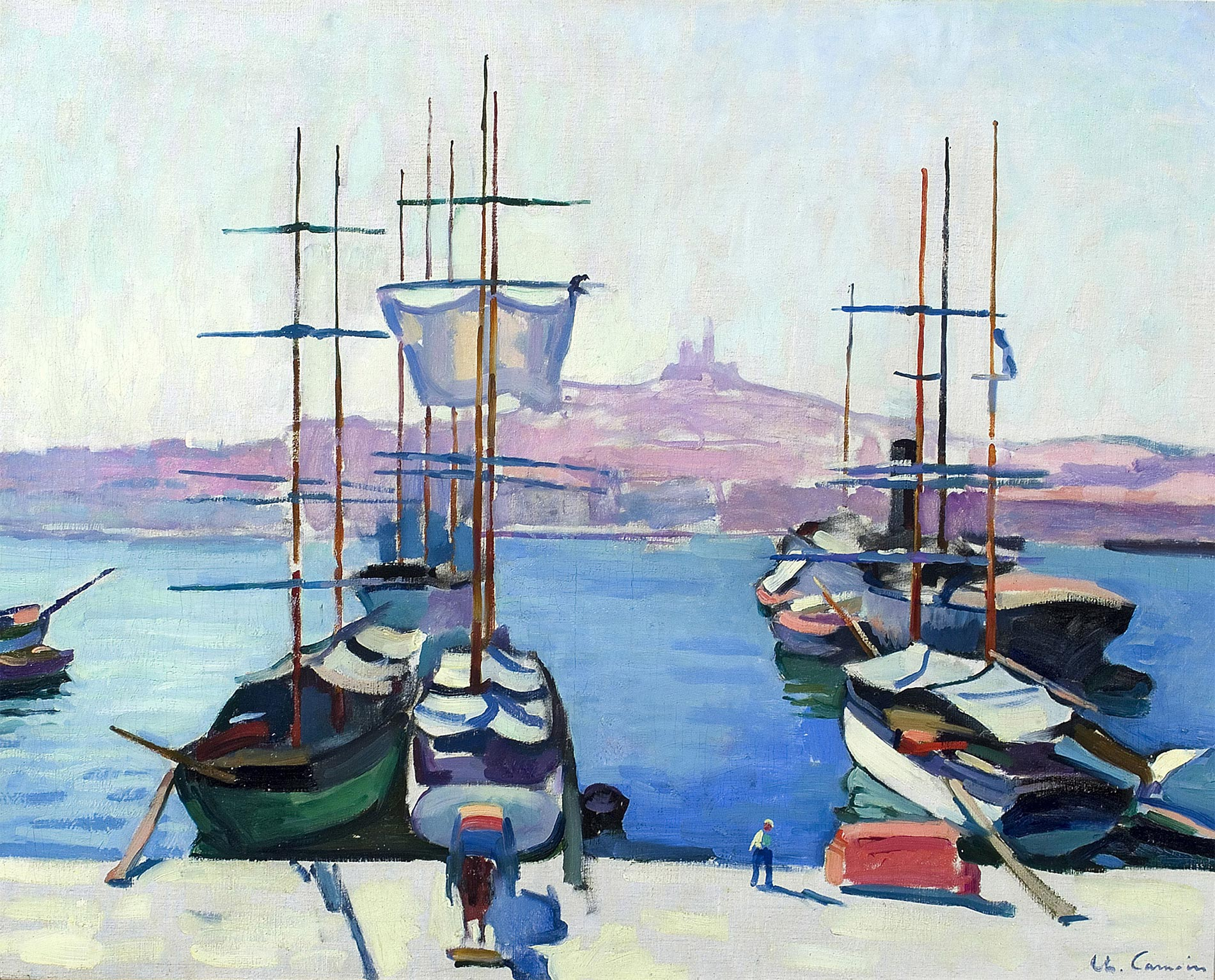 Le Port De Marseille Charles Camoin Galerie Pluskwa