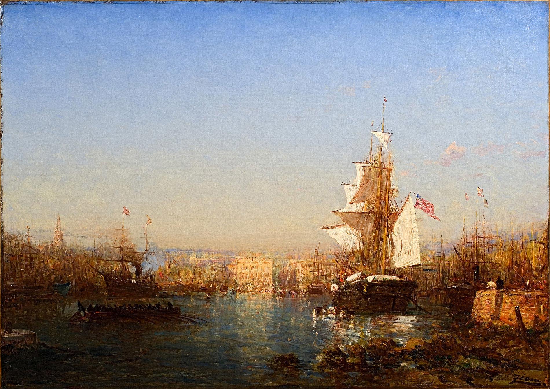 Navire américain dans le port de Marseille