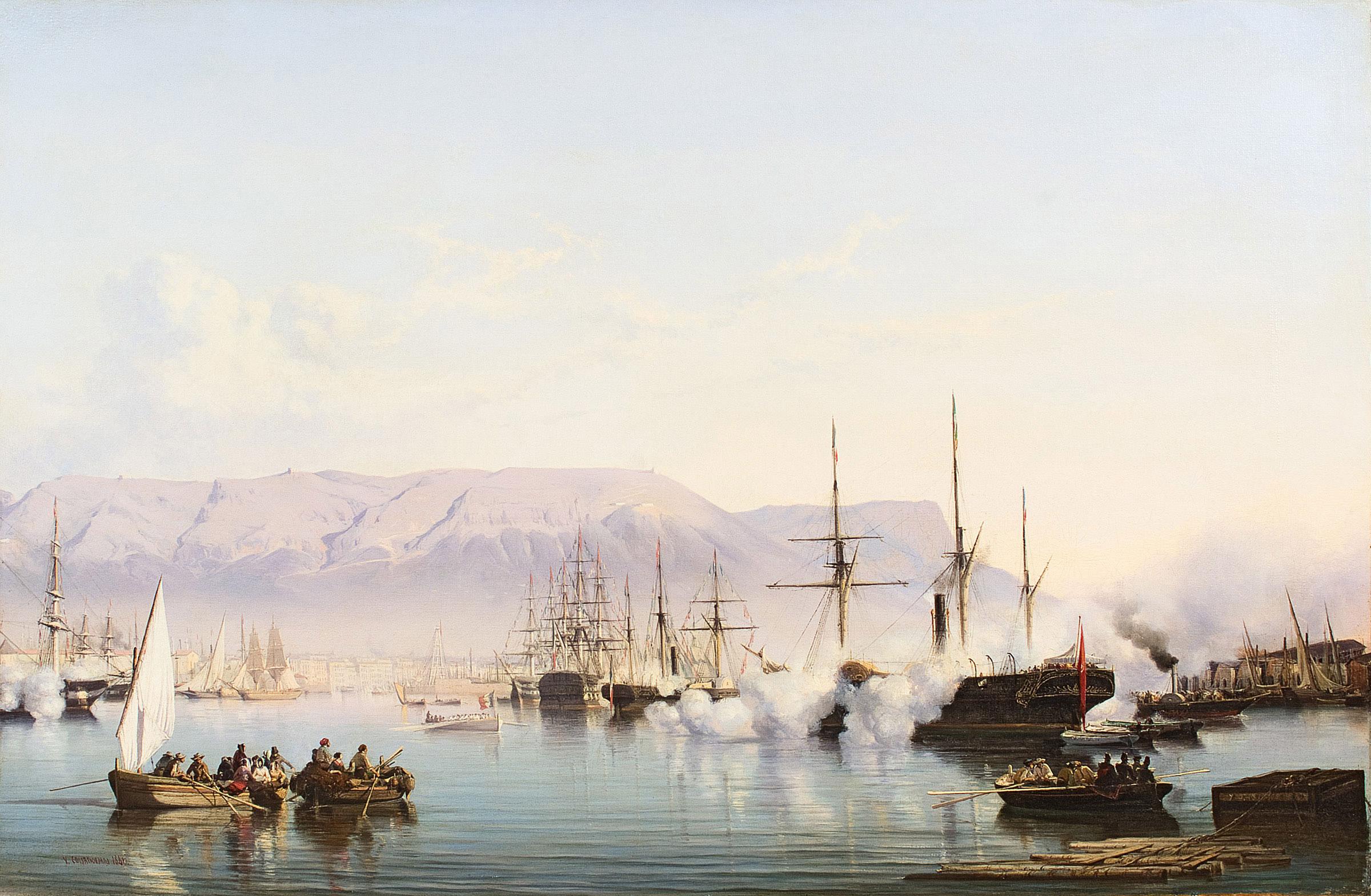 Réception dans la baie de Toulon