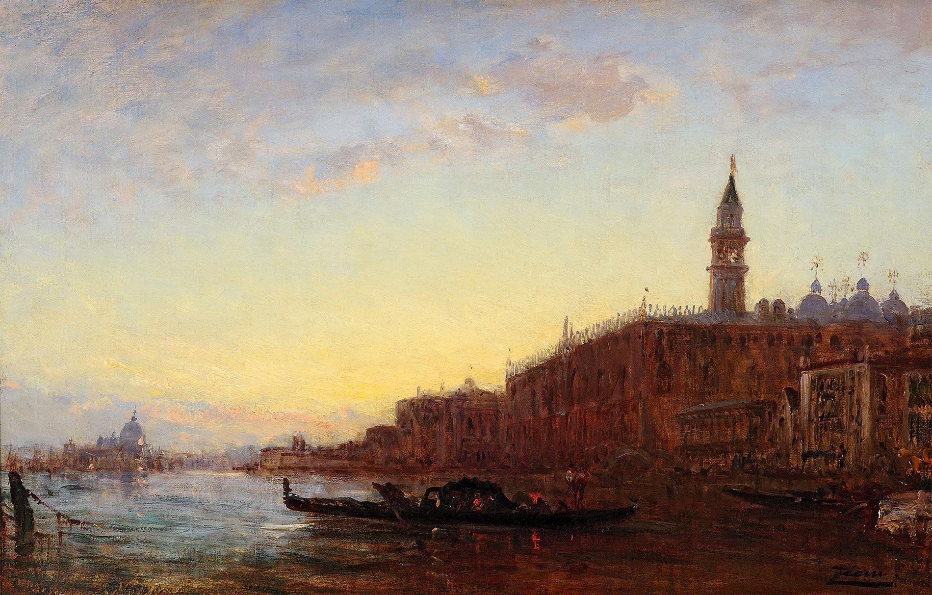 Gondole, Venise coucher de soleil