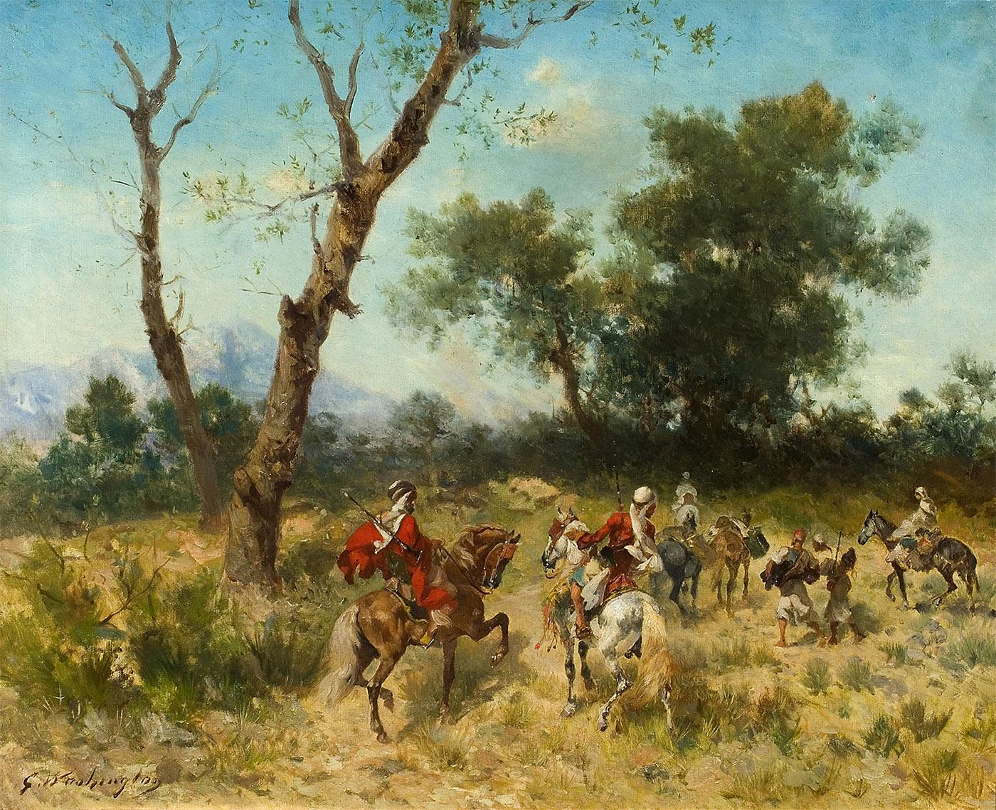 Cavaliers à la chasse