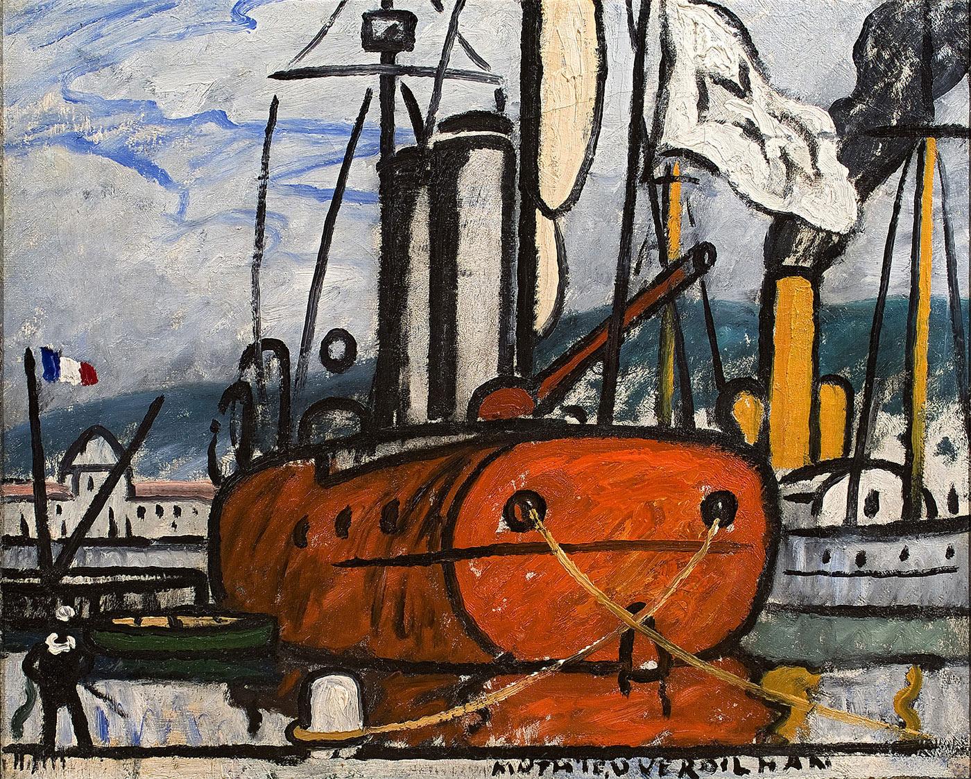 Le bateau orange