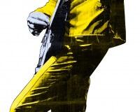 Big Guitar Hero jaune(découpe laser) 163x50cm  1-3