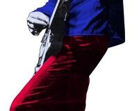 Big Guitar Hero rouge et bleu (découpe laser) 163x50cm   2-3