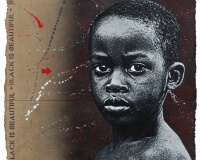Jef Arrosol, se¦ürie Blackis Beautiful , enfant , carton, 105x95cm