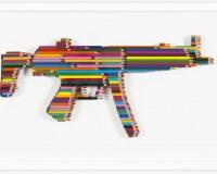 LUKE NEWTON MPFive - Crayons Not Carnage - 2015 - Crayons - 42.5 x 72.5 cm