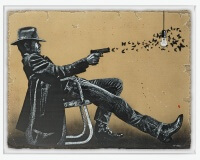 JEF AEROSOL butterfly cow boy carton 130x185cm