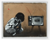 JEF AEROSOL the end carton 92x117cm