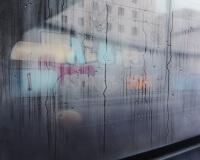 13h22, Paris, 100x100cm, Acrylique sur toile et plexiglas, 2017 2400