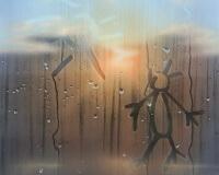 8h23min15sec, Provence, 65x50cm, Acrylique sur toile et plexiglas, 2017 2400