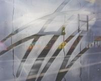 14h15, Yverdon les bains, 146x97cm, Acrylique sur toile et plexiglas, 2017 2400