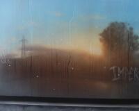 8h34, Bâle, 73x100cm, Acrylique sur toile et plexiglas, 2017 2400