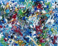 JonOne 2017-Frozen Uke (Ice), acrylique et encre sur toile, 140 x 185 cm_2017_Repro_324 2400