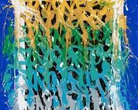 JonOne 2017-Horse Club, acrylique sur toile, 135 x 110 cm _2017 2400