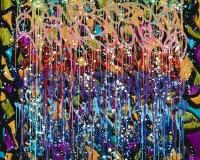 JonOne 2017-One On One, acrylique et encre sur toile, 145 x 135 cm_ 2017 2400