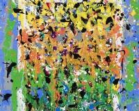 2017-Seven Dijits, acrylique et encre sur toile, 135 x 107 cm_JonOne_2017 2400