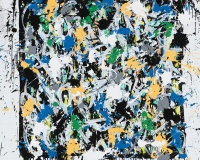 JonOne 2017-Solid As A Rock, acrylique et encre sur toile, 140 x 140 cm_JonOne_2017 2400