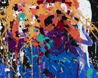 2017-Take Me On, acrylique et encre sur toile, 44 x 43 cm_JonOne_2017 2400