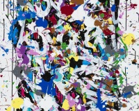 2017-Worry Free, acrylique et encre sur toile, 93 x 65 cm_JonOne_2017 2400