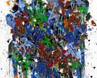 JonOne 2017-Again, acrylique et encre sur toile, 200 x 195 cm 2400