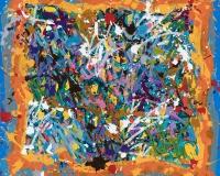 JonOne 2017-Treasure Hunts, acrylique et encre sur toile, 145 x 155 cm 1800