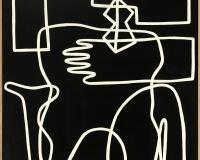 Looked , 146x97CM acrylique sur toile 4200Ôé¼