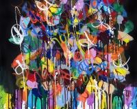 2019-I Don't Know About My Dreams, acrylique et Flashe sur toile, 67 x 63 cm