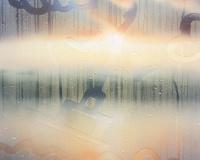 7h51, Neuchatel, 65x50cm, Acrylique sur toile et plexiglas, 2019