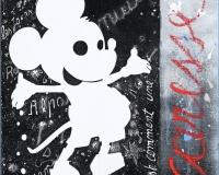 Caresse, 2015 techniques mixtes sur toile , 30x30cm 3300Ôé¼
