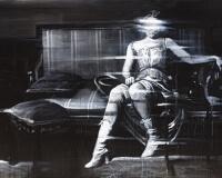 HUGPAT Acrylique et spray sur toile , 100x140cm