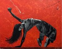Dancer... 130x162cm spray et acrylique sur toile 12000Ôé¼