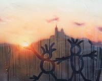 20190825-7h12, Marseille, notre dame de la garde, 60x81cm, Acrylique sur toile et plexiglas, 2019