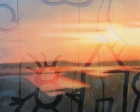 20190904-6h26, Marseille, La Joliette, 81x60cm, Acrylique sur toile et plexiglas, 2019