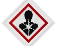 Plastic Warning sign 4 1_1 2020, 60x60cm Perles plastic 2400€