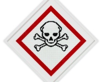 Plastic Warning signs 3 1_1 2020, 60x60cm Perles plastic 2400€