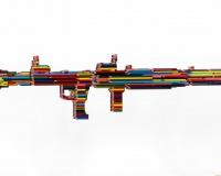Série crayons not carnage , RPG-7 2020 , 135x26x11cm + socle et verre P150xH130xL40cm 11500 2400p