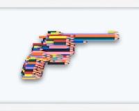 _Série crayons not carnage , RUGER GP100 (4_10) 2020, Série crayon's not Carnage 42x28x4.5cm Prix 3400€