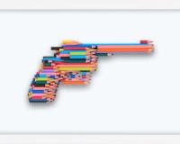 _Série crayons not carnage , RUGER GP100 (5_10) 2020, Série crayon's not Carnage 42x28x4.5cm Prix 3400€