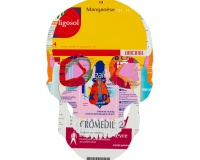 Skull 2_8 2020 , Collages sur carton 42x29,7cm 1600€