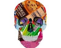 Skull 6_8 2020 , Collages sur carton 42x29,7cm 1600€
