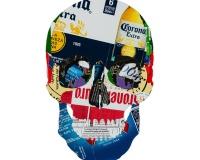Skull 8_8 2020 , Collages sur carton 42x29,7cm 1600€