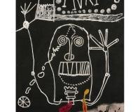 INRI , circa 1968 toile de jute Signée en bas à droite 146,3 x 114 cm 47000€