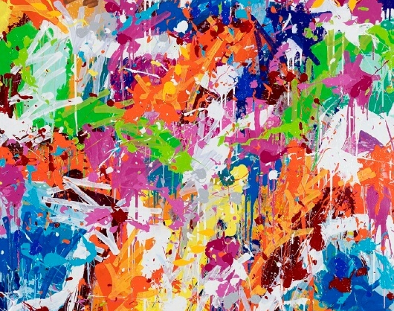 JonOne-2017-Walking-Through-The-City-acrylique-sur-toile-120-x-120-cm-530